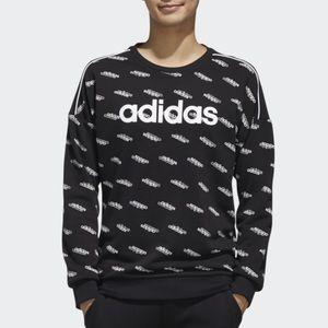 🆕 adidas Mens Logo Crewneck Sweater